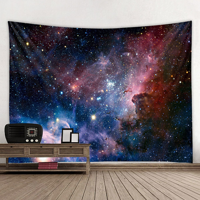 Tapiz de pared decoración artística manta cortina colgante hogar dormitorio decoración de sala de estar y cielo / galaxia y fantasía