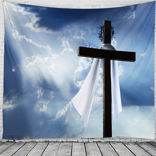 Happy Easter Wall Tapestry Art Decor Blanket Curtain Hanging Home Bedroom Living Room Decoration