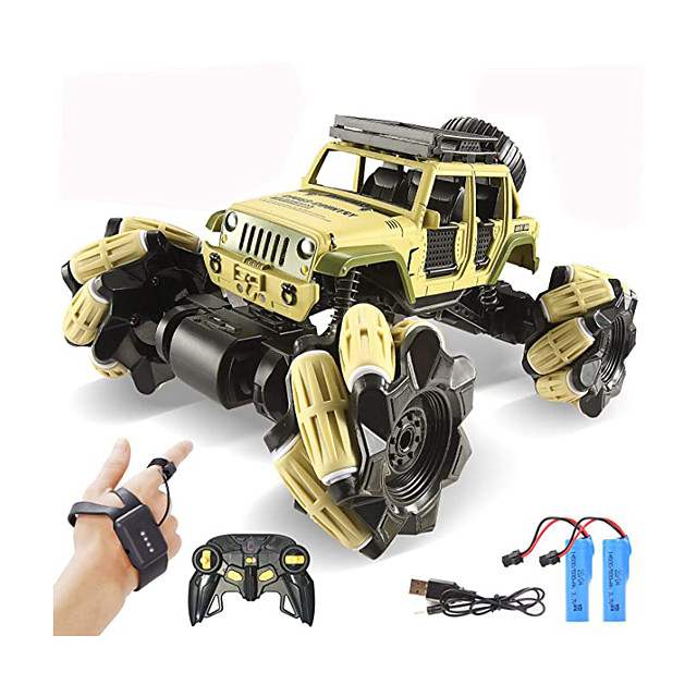 Remote Control Car, 1:16 Drift RC Cars 360° Rotating 4WD 2.4Ghz Gesture Sensor Watch Monster Truck for Kids Stunt Climbing Car Rechargeable Batteries