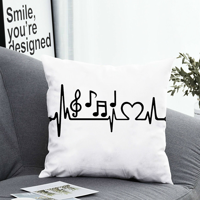 1 pcs Polyester Pillow Cover Pillow Cover & Insert, Floral&Plants Simple Classic Square Zipper Polyester Traditional Classic