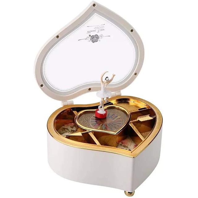 Pozytywka Pozytywka Ballerina Muzyczne pudełko na biżuterię Drewniana pozytywka Antyczna pozytywka Tancerz pozytywki Artykuły do umeblowania Unikalne Plastik Damskie Dla obu płci Dla dziewczynek