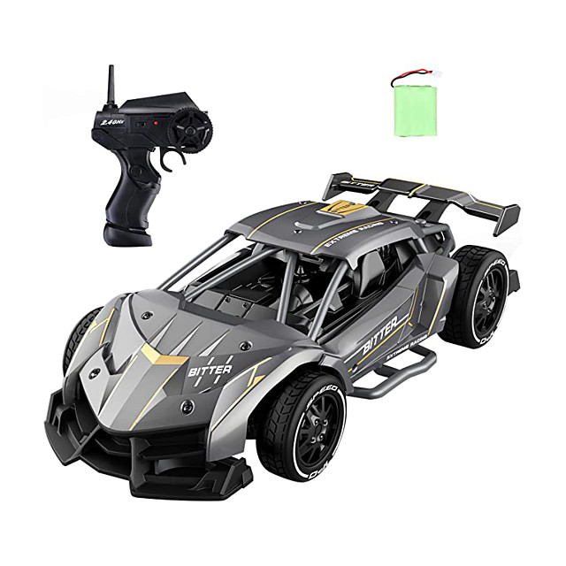 Remote Control Cars for Boys 8-12, EC05 RC Drift Sports Racing Cars, Alloy 1/24 Scale, 15 Km/h High Speed, 40 mins Electric Vehicle RC Drag Cars Super Cars Large Toys, Gift for Kids and Adult