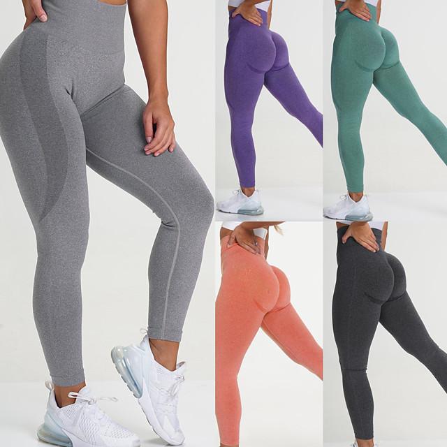 jooga korkeat vyötäröiset housut naisille, kuntosali, kuntosali, kuntosalihousut, saumattomat, laiha housut (bk-s), musta