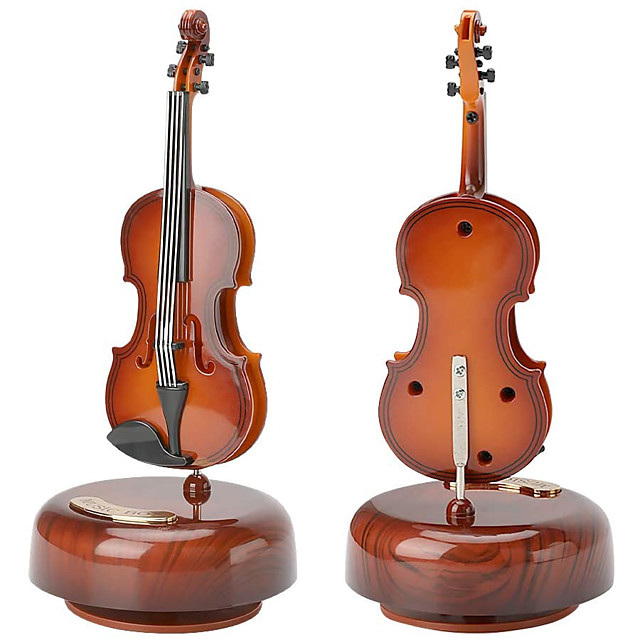 Music Box Violin Classic Unique Wet Women's Boys' Girls' Kid's Adults Kids Graduation Gifts Toy Gift