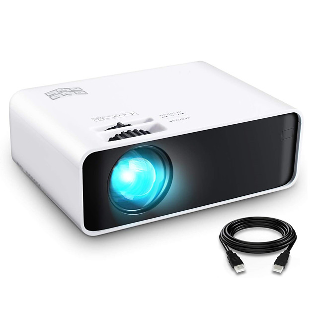 W80 Mini Projector LCD Projector 4500 lm Keystone Correction