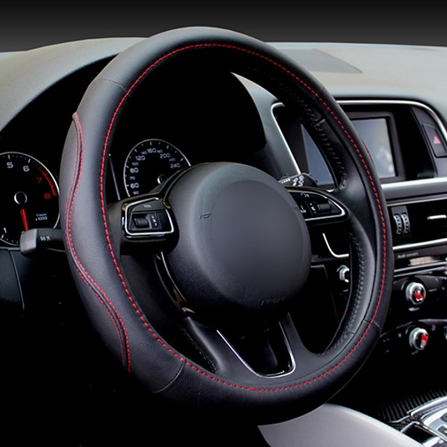 Universal Steering Wheel Leather Sport Car Steering Wheel Cover Universal 38CM Wheel Covers Car Accessories