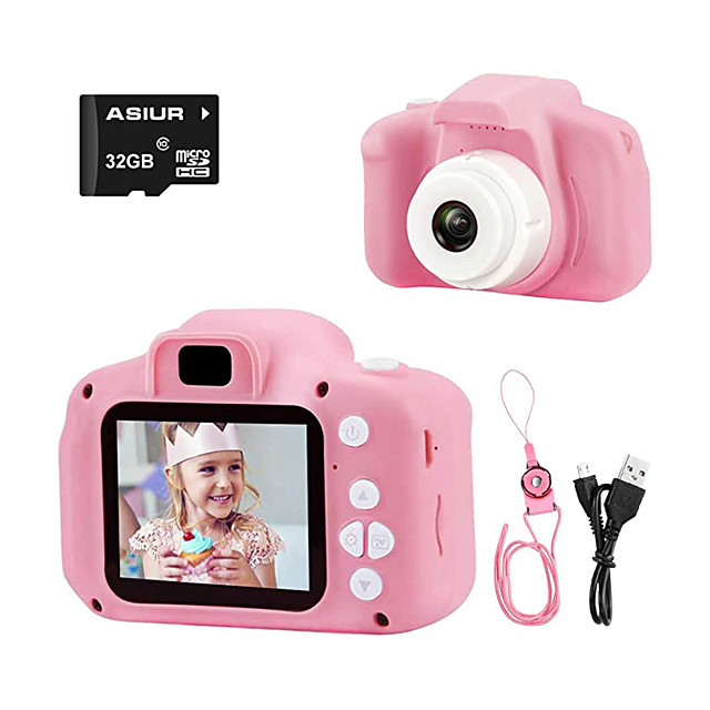 cameră digitală pentru copii, 1080p fhd copii cameră video digitală cameră pentru copii cu card SD de 16 GB pentru 3-10 ani băieți cadou fete (16 GB / 32 GB)