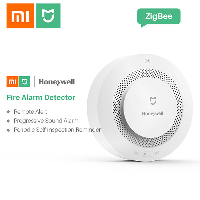 Xiaomi Mijia Honeywell Alarm Security Sensor Fire Smoke & Gas Detectors Multifunction 2 Smart Home Security with Battery APP Control Wifi Supported iOS / Android for Kitchen / Bathroom Wall Mounted