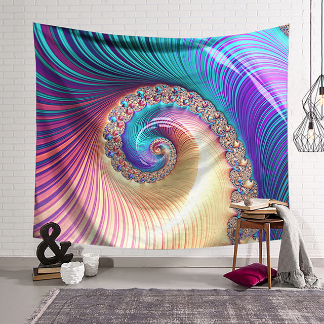 Wall Tapestry Art Decor Blanket Curtain Hanging Home Bedroom Living Room Decoration Polyester Color Object Rotation
