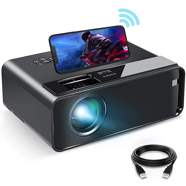 WiFi Projector WiFi Mini Projector with Synchronize Smartphone Screen 1080P HD Portable Projector with 200