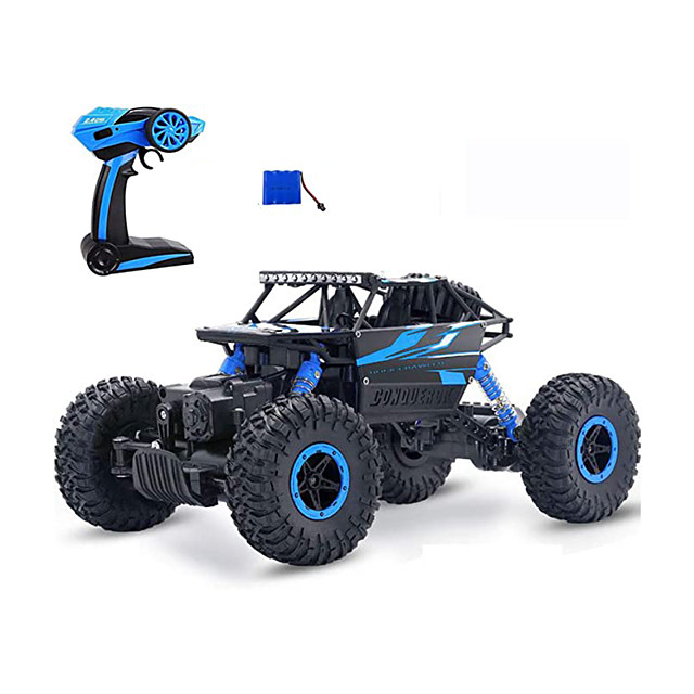 RC Cars Off-Road Remote Control Car Trucks Vehicle 2.4Ghz 4WD Powerful 1: 18 Racing Climbing Cars Radio Electric Rock Crawler Buggy Hobby Toy for Kids Gift