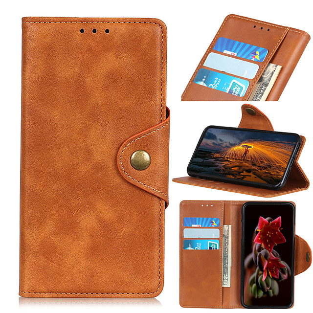 Phone Case For Samsung Galaxy Full Body Case Leather Flip S21 S21 Plus S21 Ultra S20 S20 Plus S20 ultra S20 FE 5G Galaxy M31 Prime A51 S10 Shockproof Flip Magnetic Solid Color PU Leather TPU