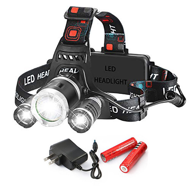 head torch usb rechargeable headlamp 4 modes with red filter for outdoor camping hunting biking running