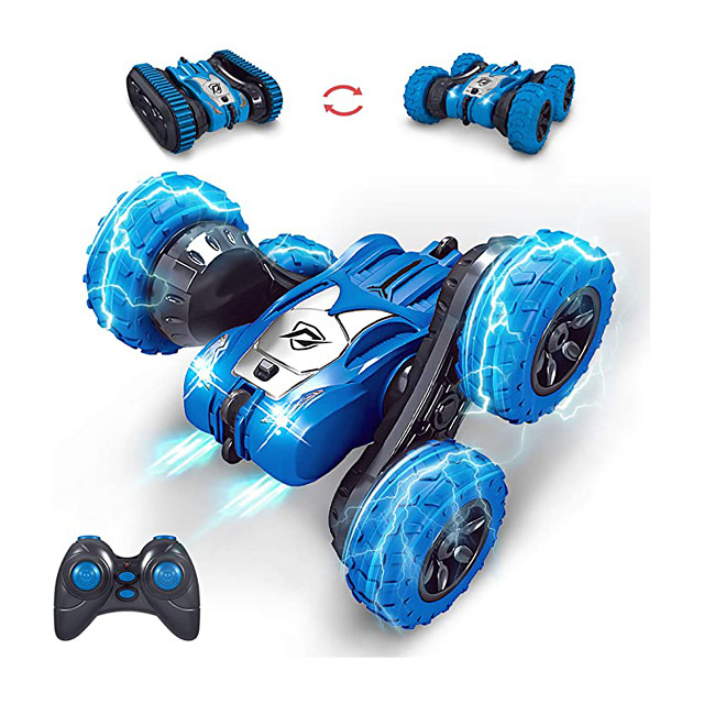 RC Cars Remote Control Car, RC Stunt Car for Kids 4WD 2.4Ghz Truck & Wheels Convert Interchange 2 in 1 360° Flips Vehicle Outdoor Car Toy for Age 8-12 Gift for Boys Girls