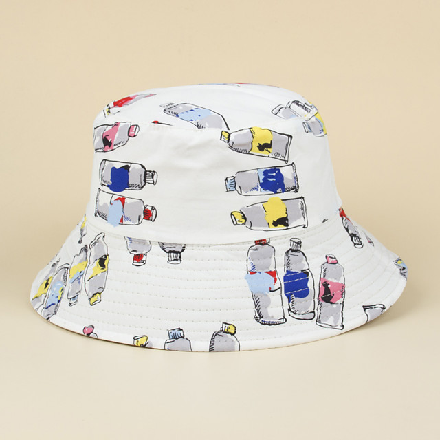 Adults' Sun Hat Bucket Hat Packable Quick Dry Breathable Spring, Fall, Winter, Summer Cotton Hat for Athleisure Fishing Camping & Hiking / Cartoon