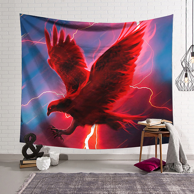 Wall Tapestry Art Decor Blanket Curtain Hanging Home Bedroom Living Room Decoration Polyester Red Eagle
