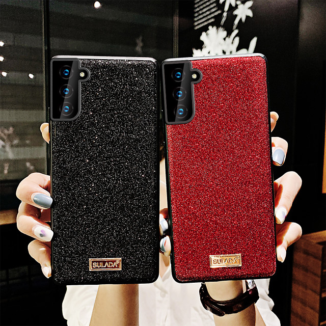 Phone Case For Samsung Back Cover S21 S21 Plus S21 Ultra S20 S20 Plus S20 ultra Note 20 Ultra Galaxy Note10 Lite Note 20 Shockproof Dustproof Solid Colored Glitter Shine TPU PC