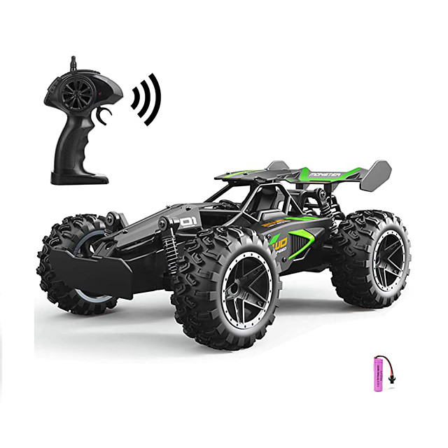 RC Cars Water-Resistant High Speed Remote Control Car, 2.4GHz 2WD RC Truck, 1/18 Remote Control Racing Toy Vehicle Fast Hobby Car for Kids, Black