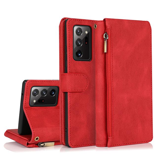 telefon Kılıf Na Samsung Galaxy Pełne etui Skórzana walizka Etui na karty portfela S21 S21 Plus S21 Ultra S20 S20 Plus S20 ultra S20 FE 5G S9 S9 Plus Note 20 Ultra Portfel Odporny na wstrząsy Z