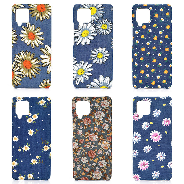 Phone Case For Samsung Back Cover Galaxy A91 / M80S A51 A7 A10 A40 A90 A70 Galaxy A20e A20 A30 Shockproof Dustproof Flower Oxford Cloth PC