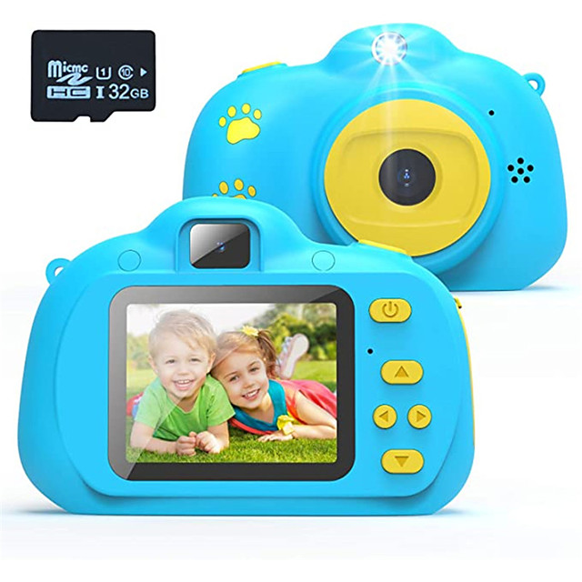 Kids Camera, Best Birthday Toys for 3 Year Old Girls or 4 Year Old Boy Toy, HD Dual Digital Video Cameras Toys for Kids, Toddlers, Boys and Girls,Age 3 4 5 6 7 8 with 32GB SD Card (Pink)