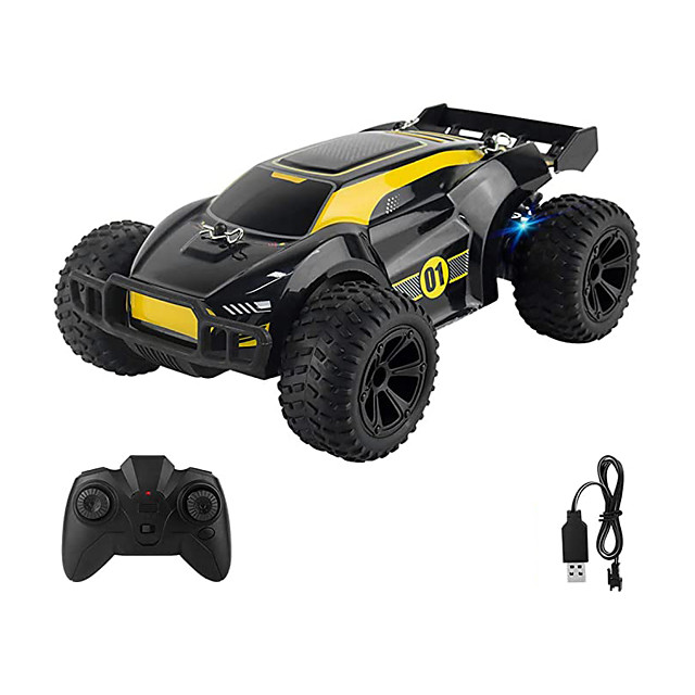 Remote Control Car 2.4GHz Electric RC Racing Cars with 2 Rechargeable Battery and Lights 1:22 Toy Car Gift with 100mins Running for 3 4 5 6 7 8 Year Old Boys Girls Kids