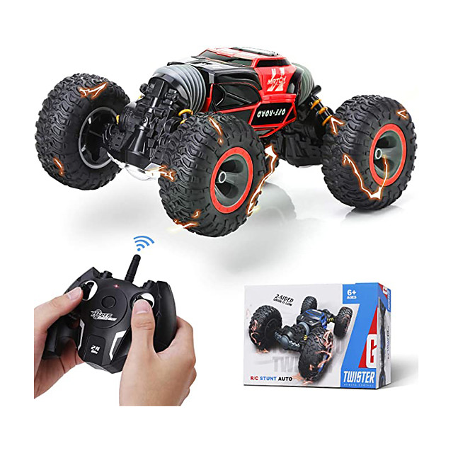 Remote Control Car Rc Car,2.4 GHz Fast Speedy Rc Drift Race Car with Rechargeable Batteries,Rock Crawler Truck Monster Vehicles Buggy Hobby Car Toy Gifts for Boys Kids Girls Adults