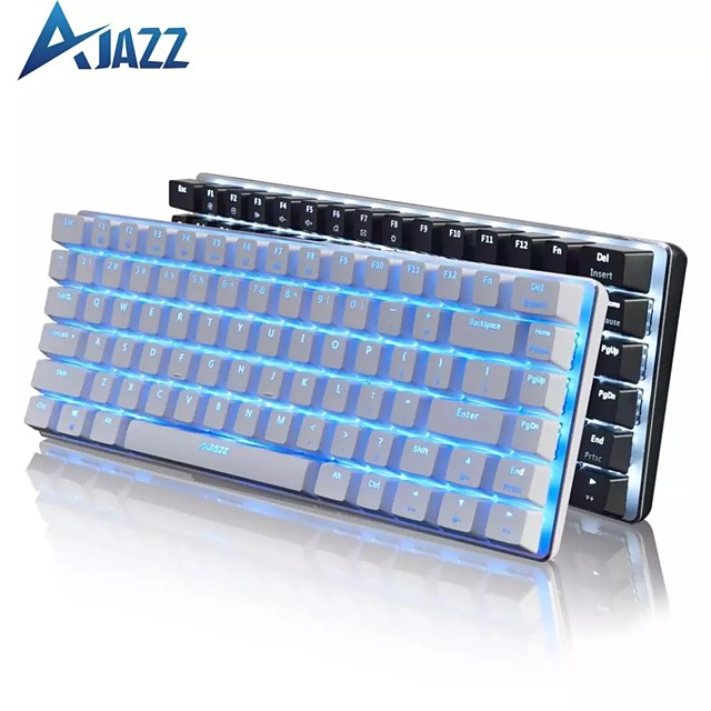 Ajazz AK33 Mechanical Gaming Keyboard Black / Blue Switch 82 Keys Wired Keyboard for PC Games Ergonomic Cool LED Backlit Design