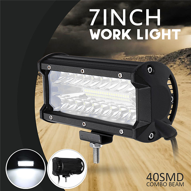 7'' Inch 40000LM 500W Car LED Work Headlights Combo Driving Fog Lamp For Off-road Truck Boat ATV