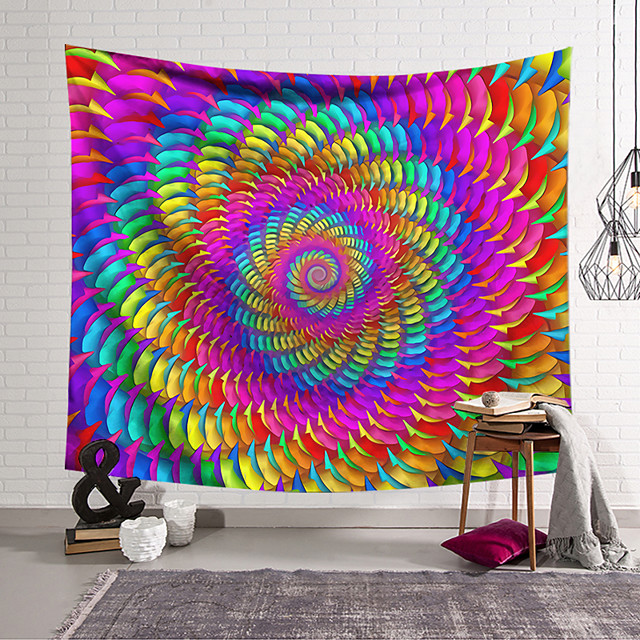 Wall Tapestry Art Decor Blanket Curtain Hanging Home Bedroom Living Room Decoration Polyester Fantasy Spiral