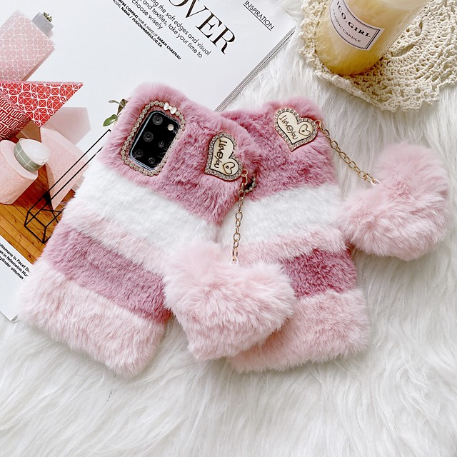 Lovely Soft Warm Fur Plush Case for Samsung Galaxy S21 Plus S21 Ultra Fuzzy Fluffy Back Cover Coque For Samsung Galaxy Note 20 Ultra S20 S10 Plus A51 A71 Note 8 9 10 Plus
