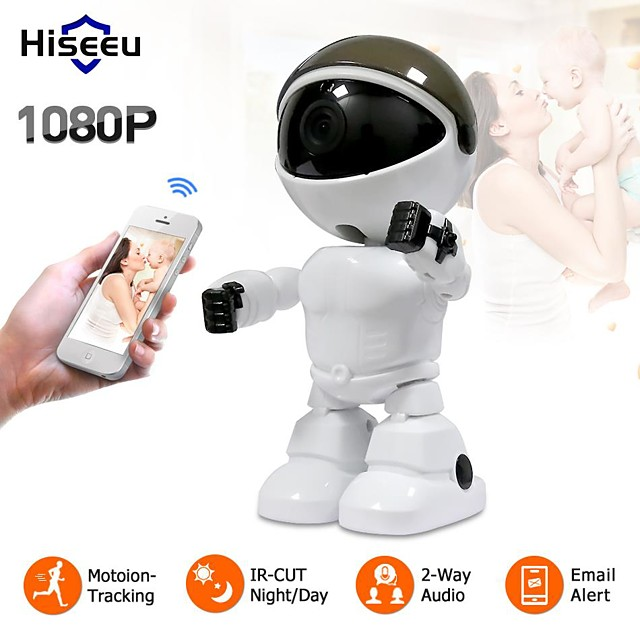 Hiseeu® HD Wireless IP Camera wi-fi Robot Camera 1080P Wifi Night Vision Camera IP Network Camera CCTV Two-way Audio