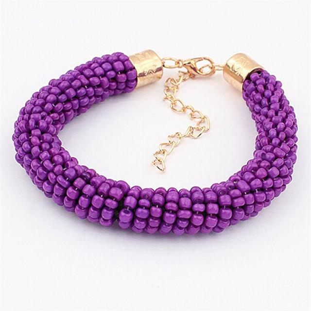 Women's Bead Bracelet Classic Flower Fashion Alloy Bracelet Jewelry Purple For Date Birthday Beach Festival
