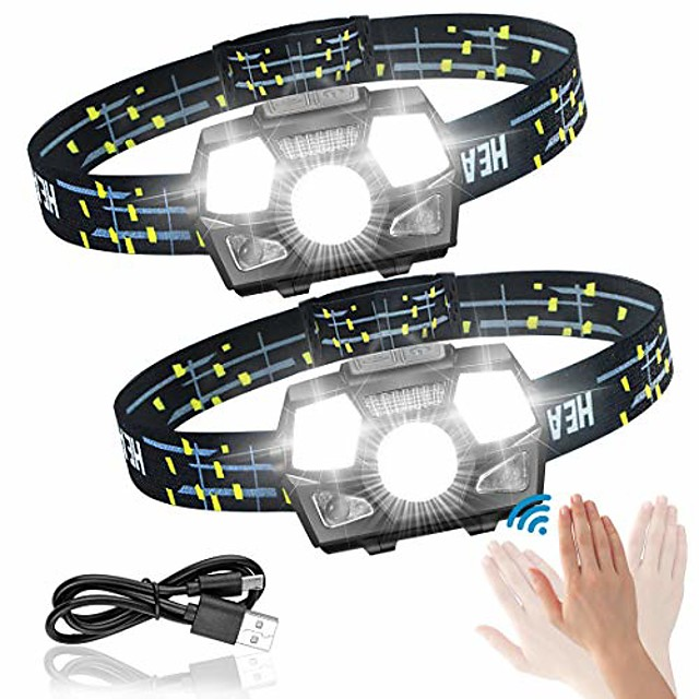 head torch led rechargeable for jogging children head torch ipx5 waterproof with red light