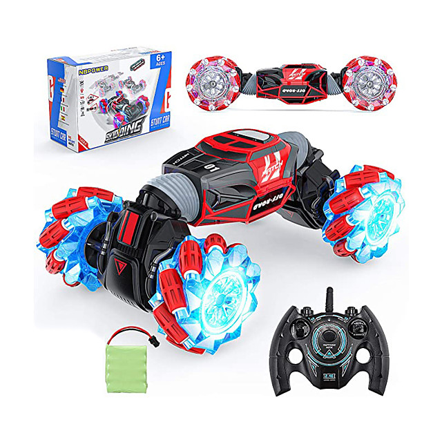 Remote Control Car, 1:16 Scale Remote Control Crawler, 4WD Transform 20 Km/h RC Stunt Cars with 2 Rechargeable Batteries RC Drift Car for Boys and Teens