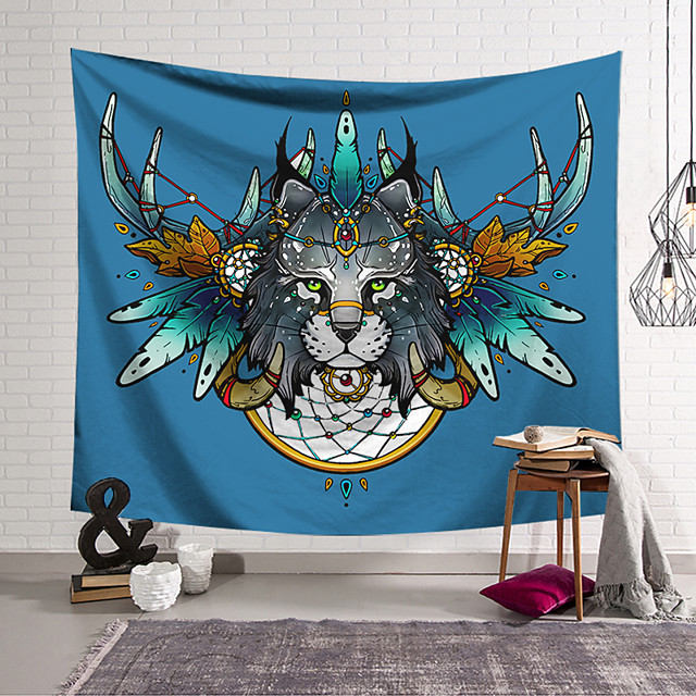 Wall Tapestry Art Decor Blanket Curtain Hanging Home Bedroom Living Room Decoration Polyester Leopard Head