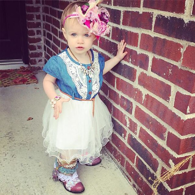 Barn Litt Jente Kjole Fargeblokk Multi Layer Rosa Hvit Knelang Kortermet Aktiv Kjoler Sommer Normal 2-6 år