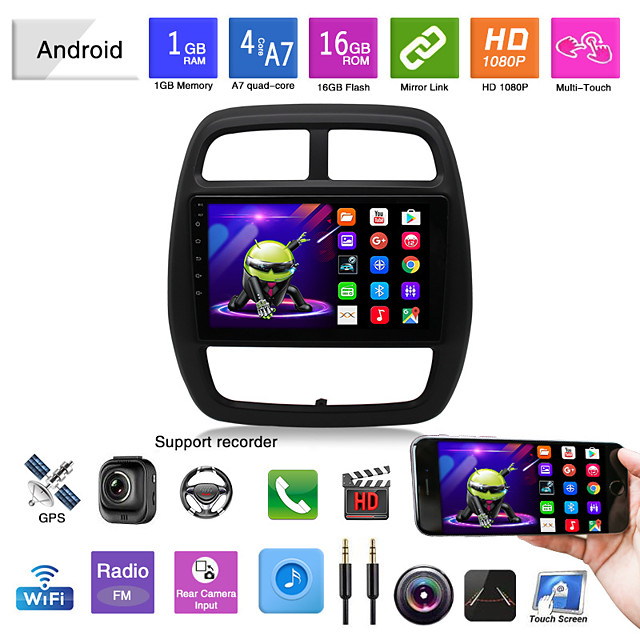 Car Dvd Mp5 Player Gps Reversing Video Car Integrated Machine Suitable For 15 Renault Kwid Android Navigation Android