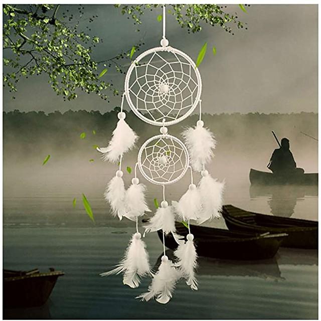 Boho Dream Catcher Handmade Gift Wall Hanging Decor Art Ornament Craft Feather 46*11cm For Kids Bedroom Wedding Festival