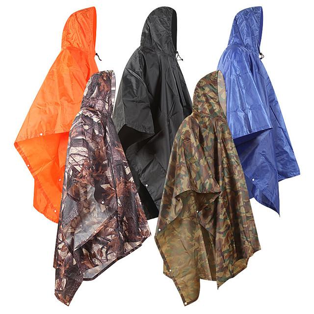 Women's Men's Rain Poncho Waterproof Hiking 3-in-1 Jacket Rain Jacket Autumn / Fall Winter Spring Summer Outdoor Solid Color Waterproof Windproof Quick Dry Lightweight Raincoat Poncho Top Fishing