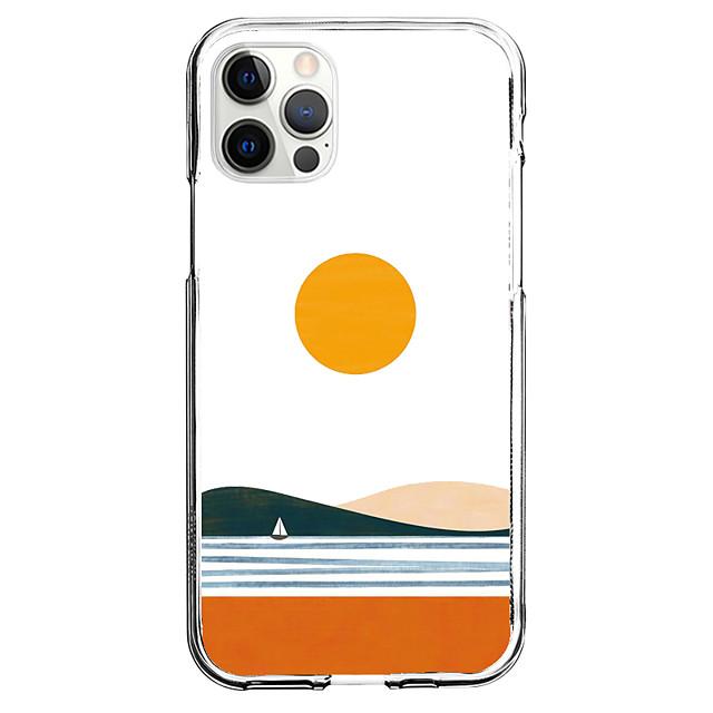 Yaratıcı Manzara telefon Durum İçin Apple iPhone 12 iPhone 11 iPhone 12 Pro Max Eşsiz tasarım Koruyucu Kılıf Temalı Arka Kapak TPU