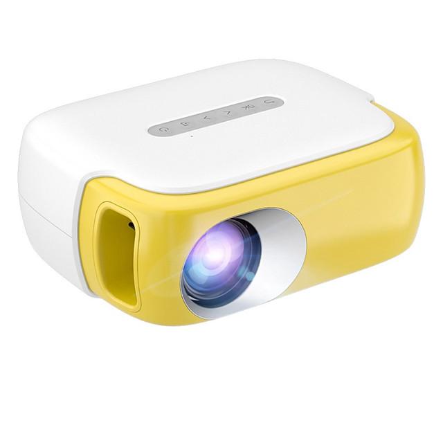 mini projetor rd860 portátil led projetor de vídeo colorido para desenhos animados, tv filme kids gift party game projetor de filmes para home theater com hdmi usb tv interfaces av e controle remoto