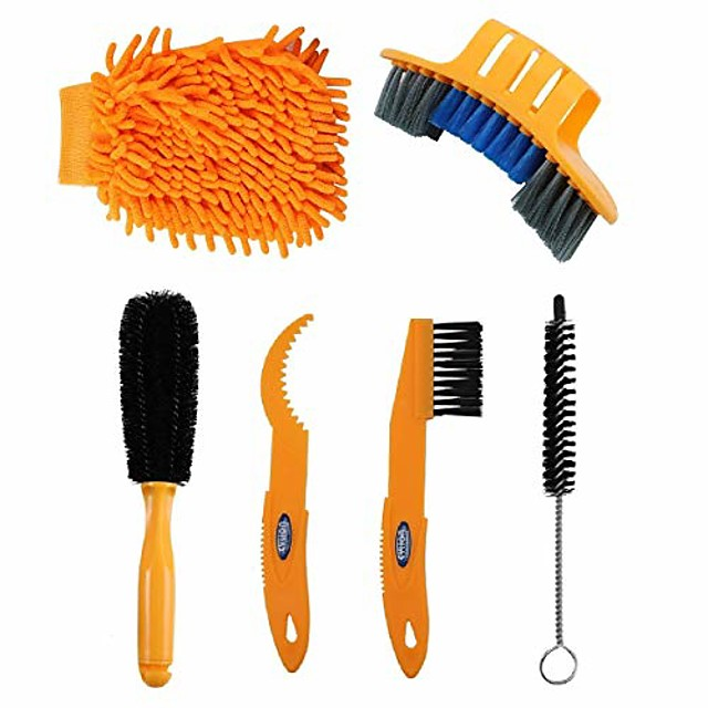 precision bicycle cleaning brush tool suitable for mountain, road, city, hybrid,bmx bike and folding bike (style 6)