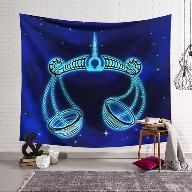 Gobelin ścienny Art Decor Koc Zasłona Wisząca Sypialnia Salon Kolor Niebieski Poliester Waży