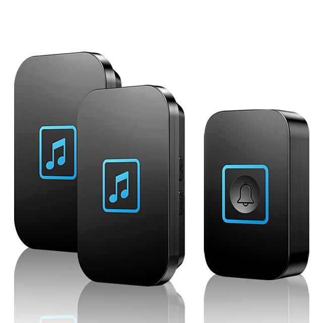 KONLEN A86 Wireless One to Two Doorbell Music Non-visual doorbell / Waterproof / Sound adjustable Surface Mounted Doorbell
