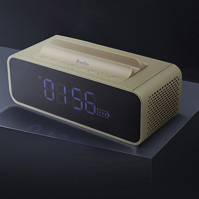 OneDer V06 Bluetooth Speaker with Mobile Stand and Digital Clock,high bass Sound Box