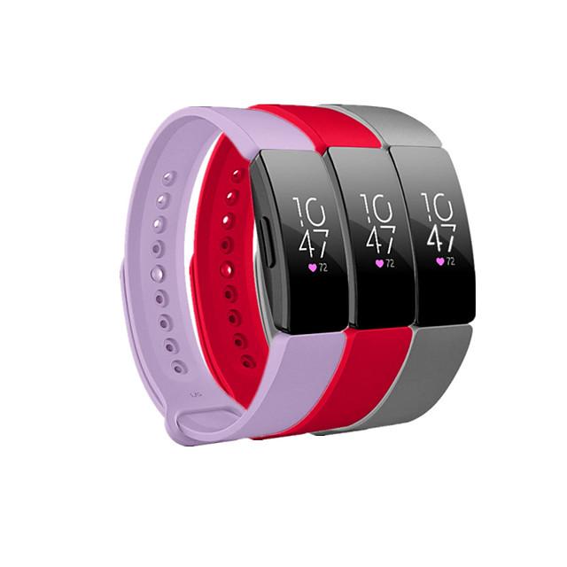 להקת שעונים חכמה ל פיטביט 3 יחידות רצועת ספורט סיליקוןריצה תַחֲלִיף רצועת יד לספורט ל פיטביט אייס 2 Fitbit השראה HR פיטביט השראה