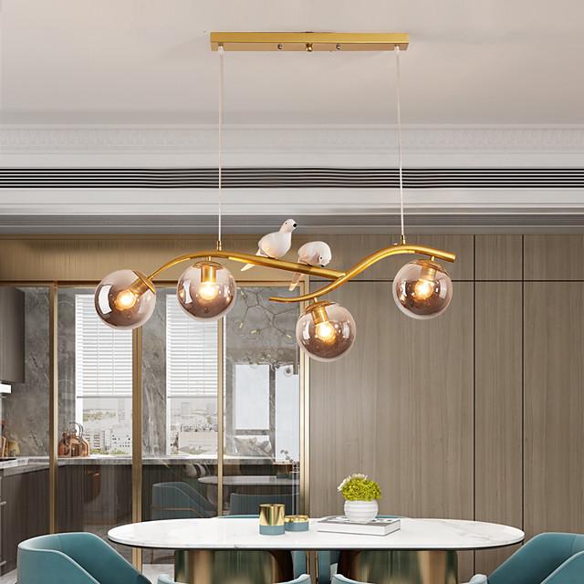 83 cm lampada a sospensione a led elemento animale forme geometriche design unico lampada a sospensione in metallo stile artistico stile moderno sputnik finiture verniciate stile nordico moderno