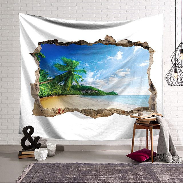 Wall Tapestry Art Decor Blanket Curtain Hanging Home Bedroom Living Room Decoration Polyester Box Landscape