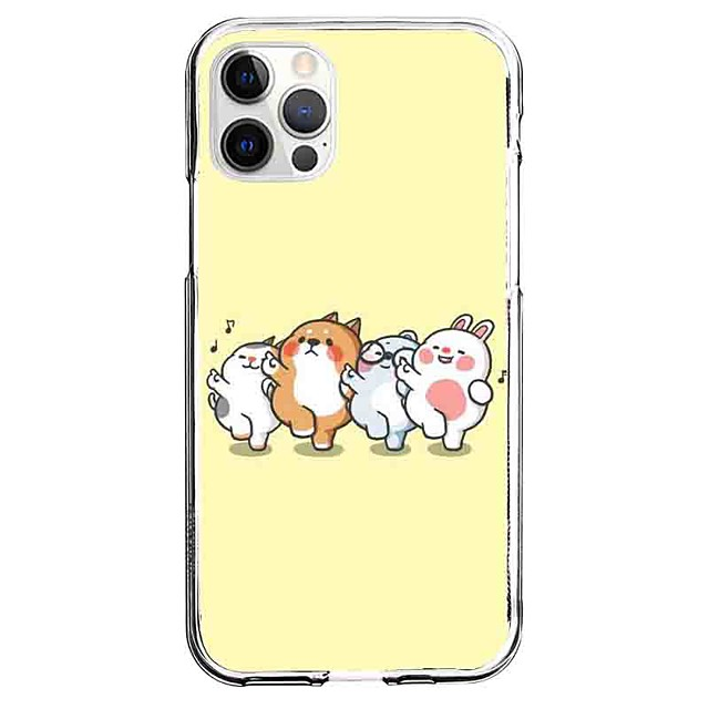 Eläin Asia Sillä Omena iPhone 12 iPhone 11 iPhone 12 Pro Max Ainutlaatuinen muotoilu Suojakotelo Kuvio Takakuori TPU